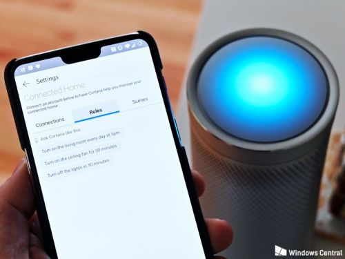 Cortana gets smarter with new 'scenes' and 'rules' for smart home setups