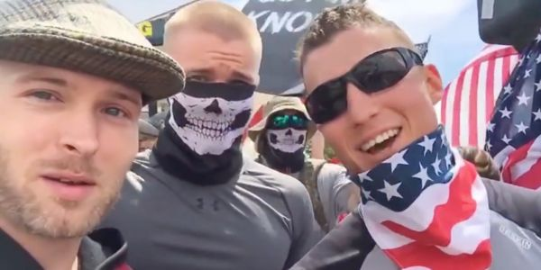 Instagram deleted a video by a news outlet that identified members of a white supremacist group