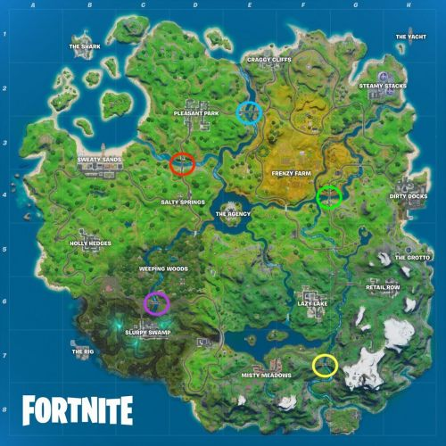 Fortnite: Where Are Blue, Red, And Purple Steel Bridge Locations?