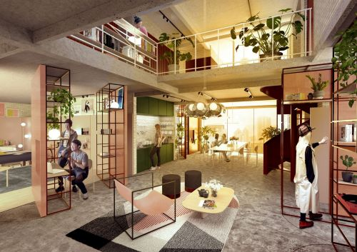 BMW is turning an abandoned paint factory into a micro-apartment building in Shanghai