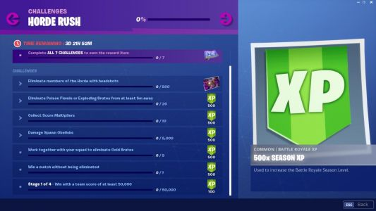 Fortnite Update Adds Horde Rush LTM And New Gun; Here Are The Patch Notes