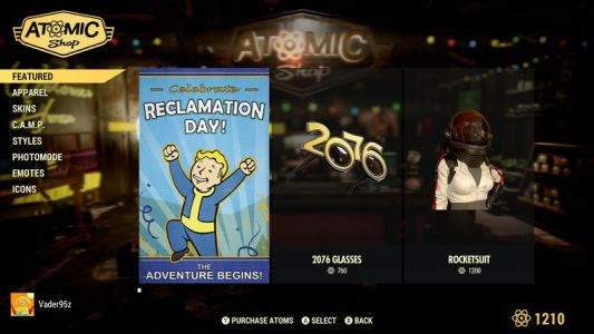 How to earn Atoms quickly in Fallout 76