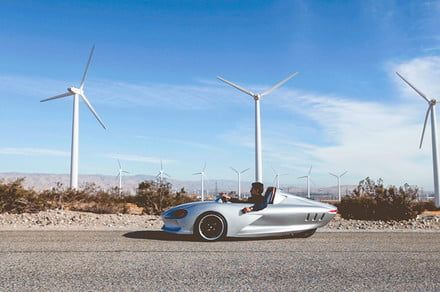 Would you commute in Ampere's low-slung, three-wheeled electric machine?