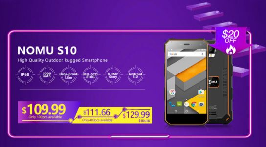 NOMU Will Discount Five Handsets On Nov. 11 For '11.11' Sale