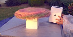 YouTuber builds glitter bomb in HomePod box to thwart package thieves