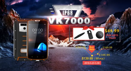 Vkworld VK7000 Rugged Phone with Wireless Charging on Presale at $139.99