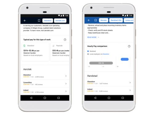 Google's jobs search engine gets salary ranges, a better location filter and more