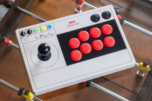 8BitDo's Arcade Stick is a sleek and stylish Switch controller