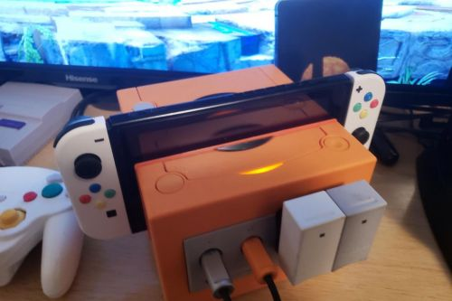 This Nintendo Switch Gamecube dock mod even has working controller ports