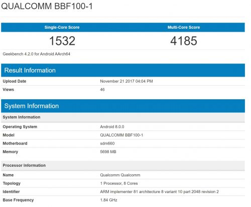 Keyboard-Equipped BlackBerry BBF100-1 Sighted With 6GB RAM