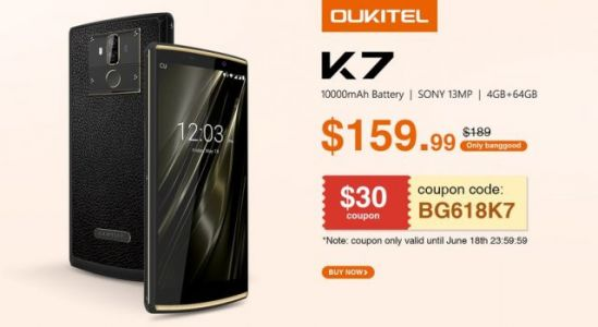 Big battery model OUKITEL K7 world debut coming on June 19th