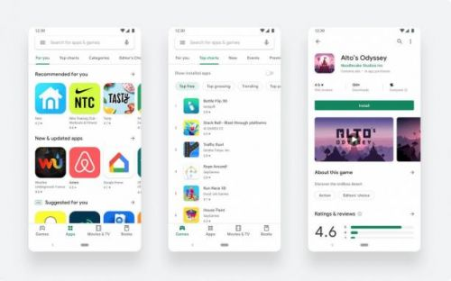 Google Play Store's blindingly white update is now official