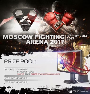 Russia's Moscow Fighting Arena features Street Fighter V, Injustice 2, & Tekken 7 on July 8-9, 2017