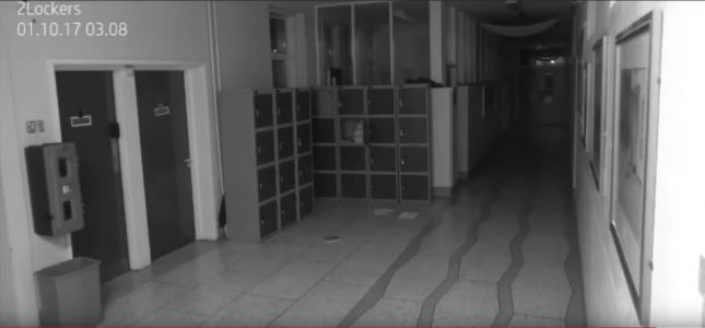 NOPE! NOPE! NOPE! This School Surveillance Video Supposedly Capturing a Ghost in Action Is Not Scary!