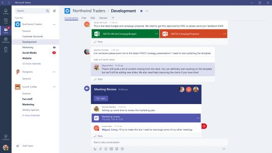 Microsoft Teams top 500,000 organizations
