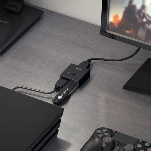 Aukey's $11 HDMI switch lets you add two sources to one port