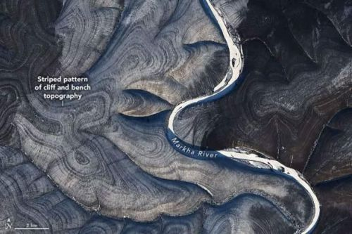 Odd stripes spotted by NASA satellite in Russia baffle scientist