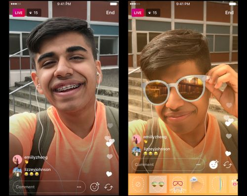 Instagram's face filters are now available during your livestreams