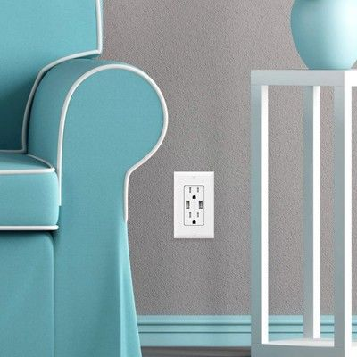 Add two USB ports to your wall receptacles for just $12 each