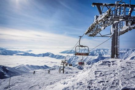 Video of skilift malfunction shows skiers being violently flung into the air