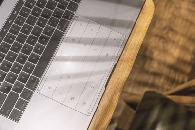 This glass sticker turns your MacBook's trackpad into a number pad