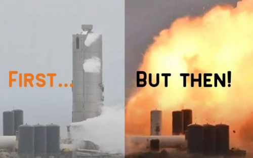 SpaceX Starship SN4 exploded