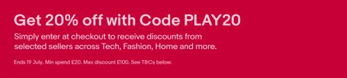 20% off Everything at eBay - God of War for £31.20, PS4 Dualshock Controllers for £33.60