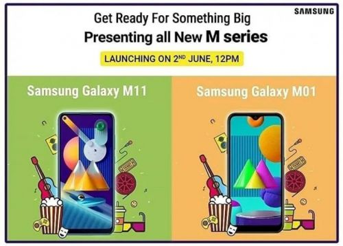 Samsung Galaxy M11, Galaxy M01 to be launched in India on June 2
