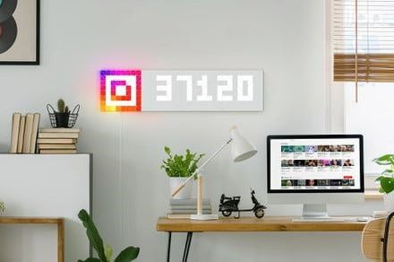 LaMetric teased Sky, an upcoming app-controlled mosaic light panel at CES 2019
