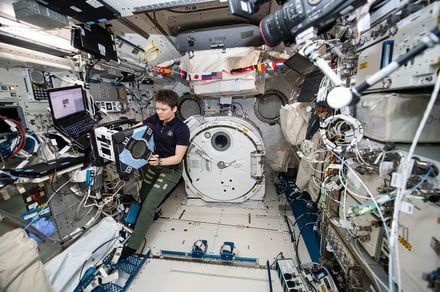 Friendly cube robot Bumble passes its first hardware test aboard the ISS