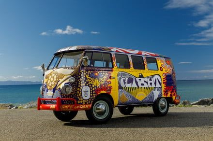 Psychedelic Volkswagen Microbus from Woodstock returns for an encore