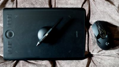 I tried replacing my mouse with a Wacom tablet, and it almost stuck