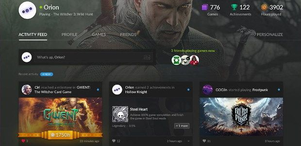 GOG introduces user profiles for social butterflies