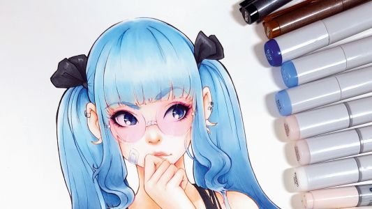 Create a character using Copic markers