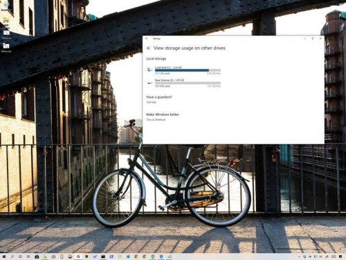 Can't other drives in the Storage settings? Windows 10 moved them here
