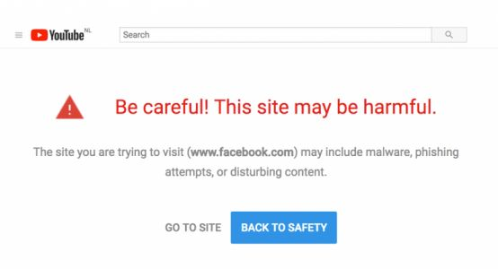 YouTube is flagging Facebook and the White House for phishing attacks