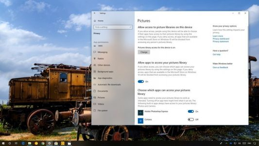 How to manage file access permissions for apps on Windows 10 April 2018 Update