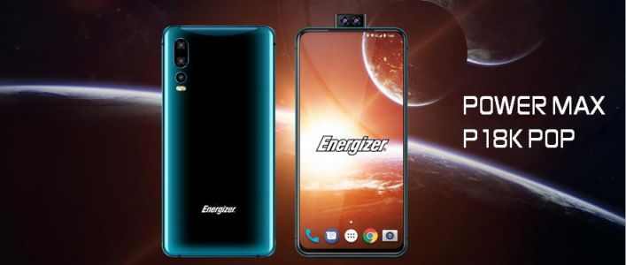 Energizer® P18K Pop with 18.000 mAh battery will be unveiled at MWC 2019