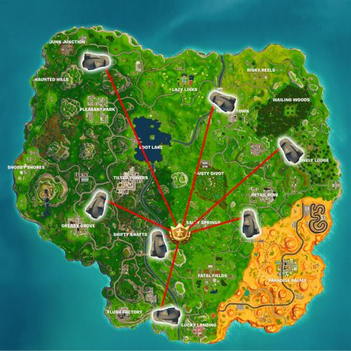 Fortnite Challenge Location: Search Where Stone Heads Are Looking