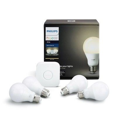 Step into the smart light scene with this $120 Philips Hue White Ambiance 4-bulb starter kit