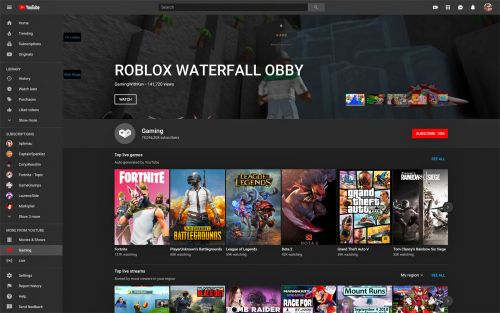 YouTube's revamped gaming hub offers faster access to top streams