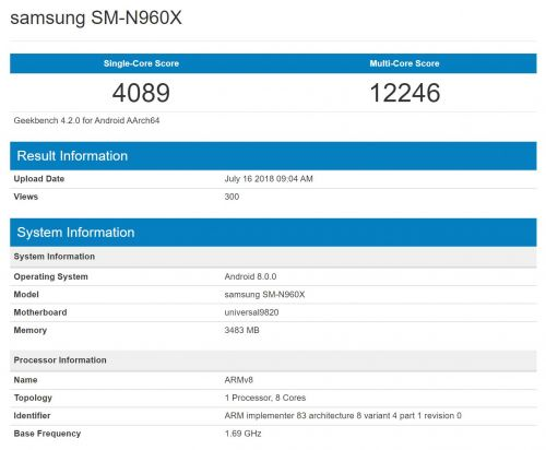 Possible Galaxy Note 9 Sighted With Unannounced Exynos 9820