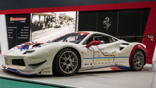 "This Ferrari is covered in a London ""tube map"""