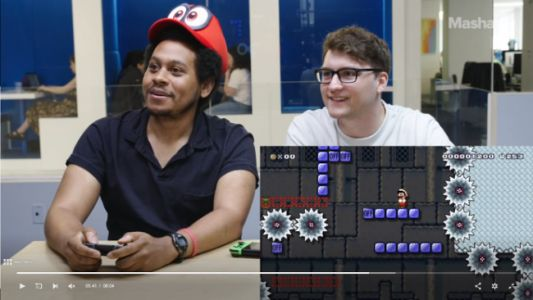 Watch: Geek and Mashable Go Head-to-Head in 'Super Mario Maker 2'