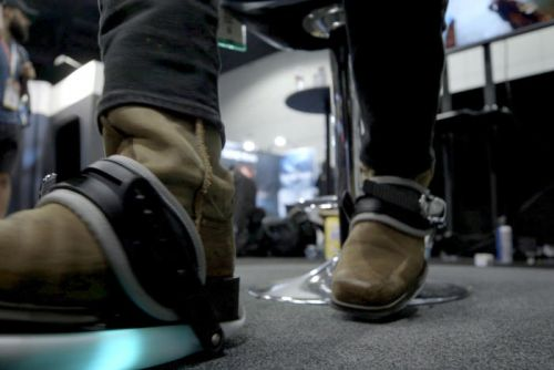 Cybershoes let you physically run through virtual reality from the comfort of your chair