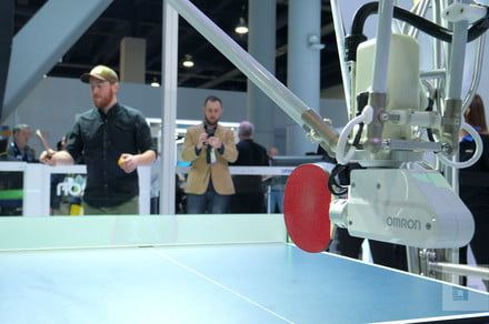 I played ping pong against a giant robot, and it was awesome