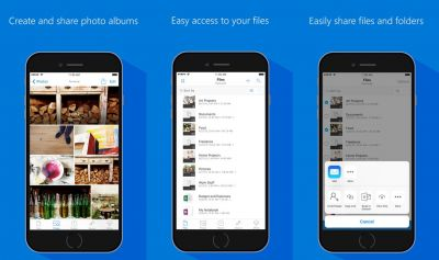 OneDrive iOS app updated with the ability to upload files from your favorite apps