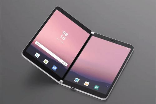 Here's a first look at Android on Microsoft's dual-screen Surface Duo