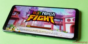 Have a slice and dice fruit competition with 'Fruit Ninja Fight'
