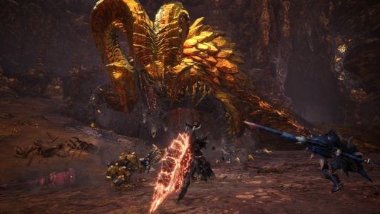 Kulve Taroth Elder Dragon Shimmers In Monster Hunter World Update